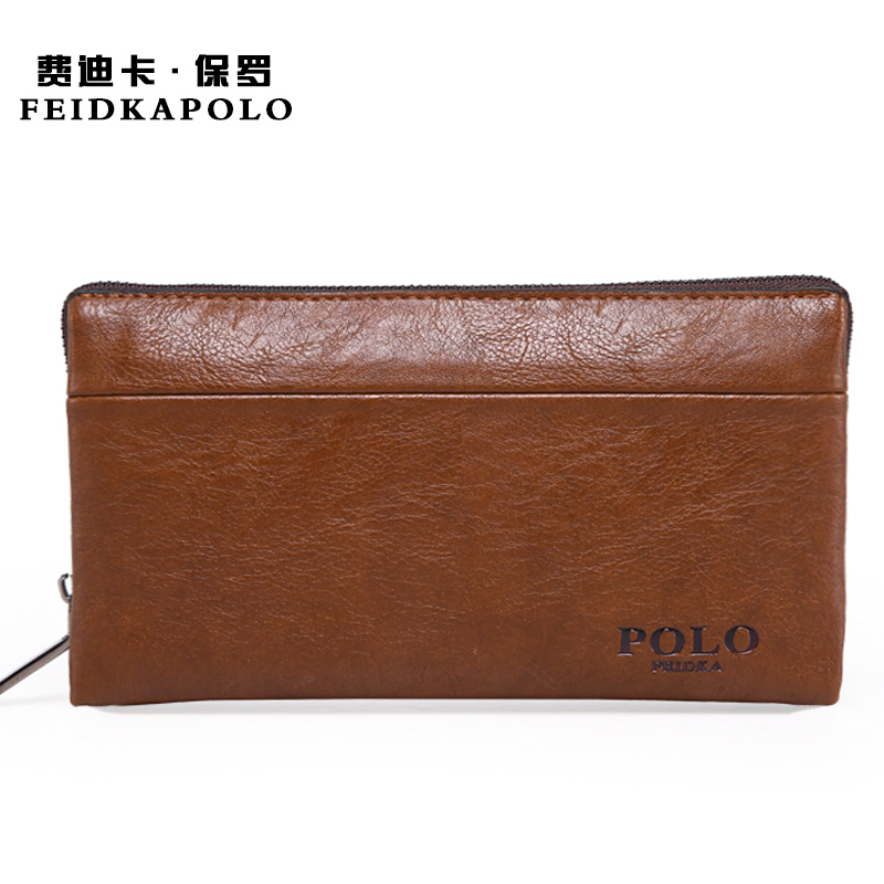 Carteras Brand Men Standard Wallet Clutch PU Leather Male Handy Bags Purse Monederos Carteras Hombre Men Wallets Brown And Khaki(China (Mainland))