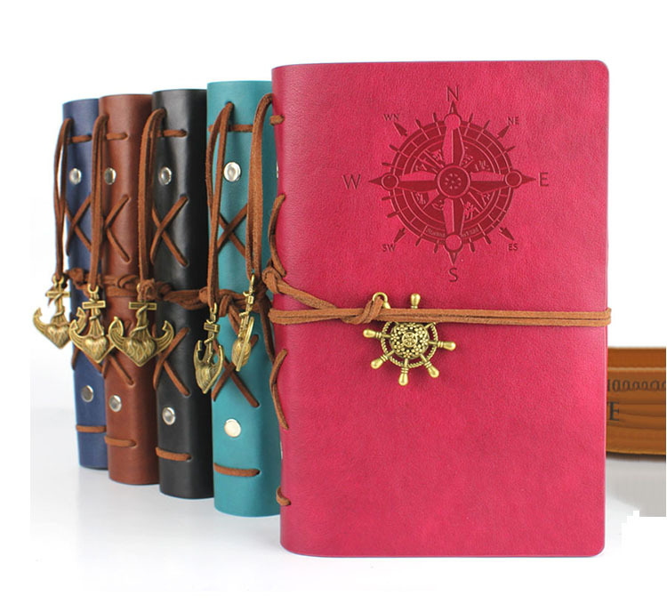 RuiZe 2016 String Nautical vintage notebook travel journal diary kraft paper Blank Sketchbook a6 ring binder note book caderno - office & school supplies stationery online store