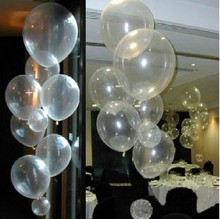 101 unids/lote decoración 12 pulgadas globos de látex transparentes cumpleaños boda de la bola del partido baloon