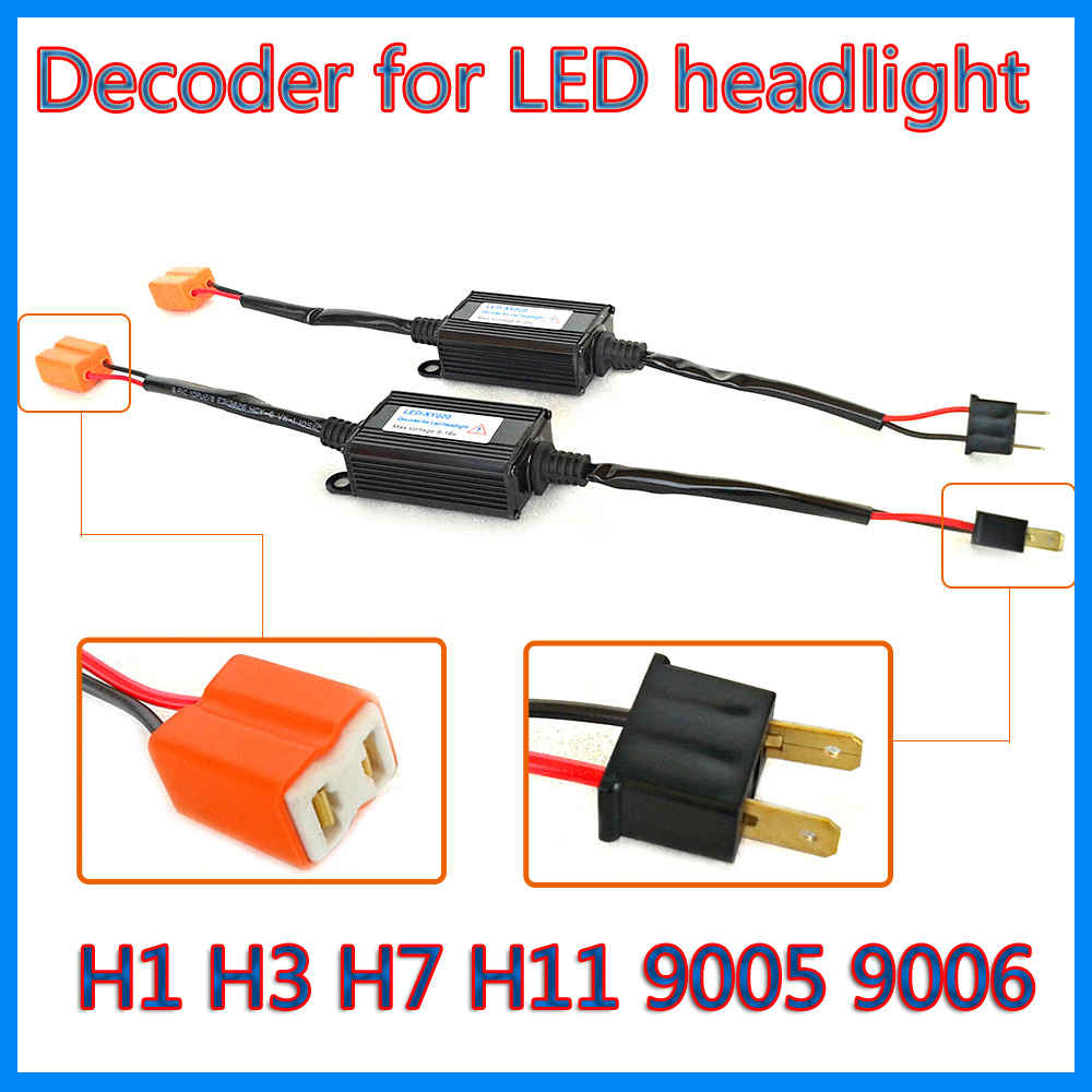 auto headlamp error free led decoder for LED headlight kit canbus DECODER H1 h3 h7 h11 9005 9006 warning canceller free shipping(China (Mainland))