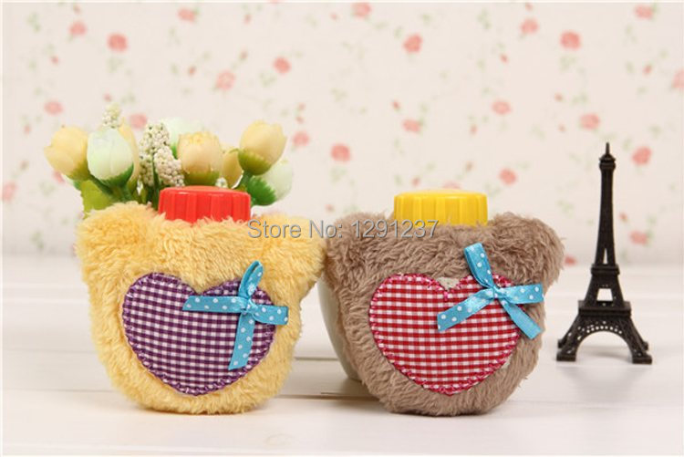 1pcs Free Shipping Hot Water Bottle Heart Design Cover - Great Christmas Gift iFoR(China (Mainland))