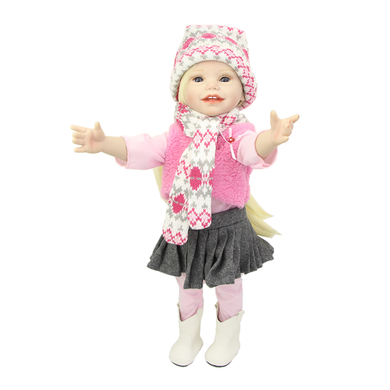 Limited Collection Full Body Vinyl American Girls 18 Inch Cute Princess Doll Babies That Look Real Kids Birthday Gift