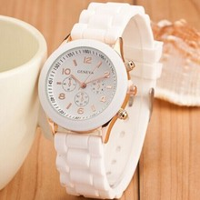 Hot Sale 2015 New Fashion Designer Colorful Silicone Strap Women Wristwatches Geneva Casual Watch Analog Quartz Watches Ladies