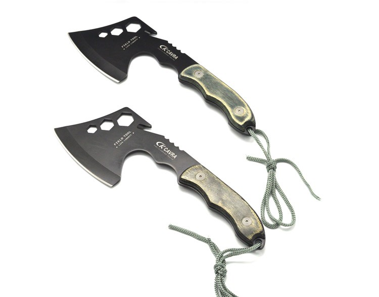 Buy High quality Portable Outdoor Survival Tools Camping Knife Axe tactical tomahawks Survival multi tool cheap