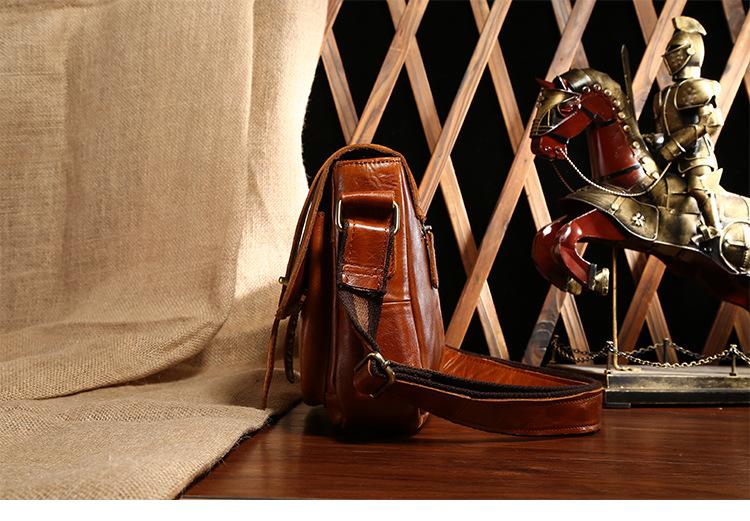 ซื้อ BILLETERAผู้ชายหนังแท้กระเป๋าหนังวัวสบายๆธุรกิจกระเป๋าสะพายMessengerชายC Rossbodyกระเป๋า