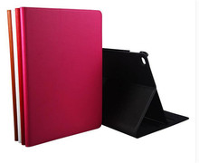 Fashion Luxury Filp Genuine Leather Book Case For Apple iPad Air 2 Air2 iPad 6 Smart Protective Skin Case With Stand(China (Mainland))