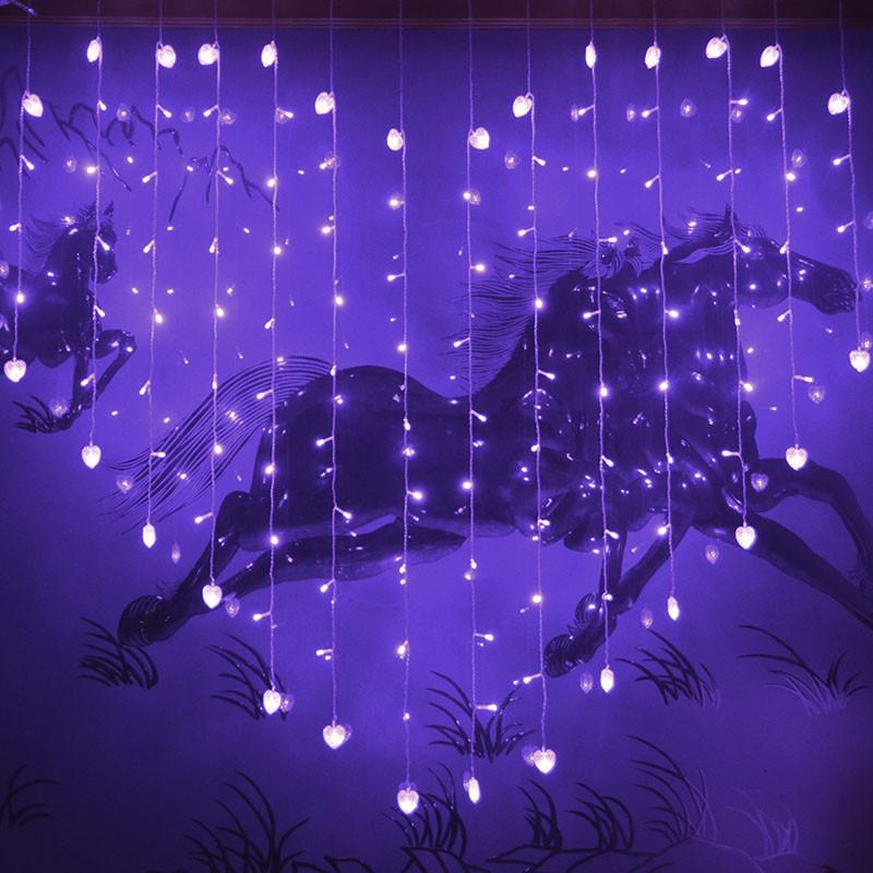 Backdrops With LED Lights Loving Heart Royal Blue Wedding Decoration ...
