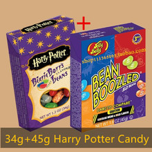 2 boxes Import Candy Food Strange Taste Bean Harry Potter Candy Jelly Beans Belly Candy bean boozled Snack Halloween Game Gift(China (Mainland))