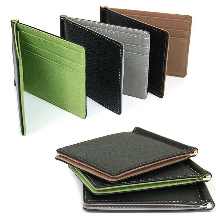 Super Thin Wallet Mens Leather 2016 Synthetic Leather Money Clips Sollid Thin Wallet For Men(China (Mainland))