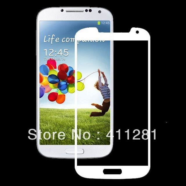 Tempered Glass Screen Protector for Samsung Galaxy S4/i9500(White)
