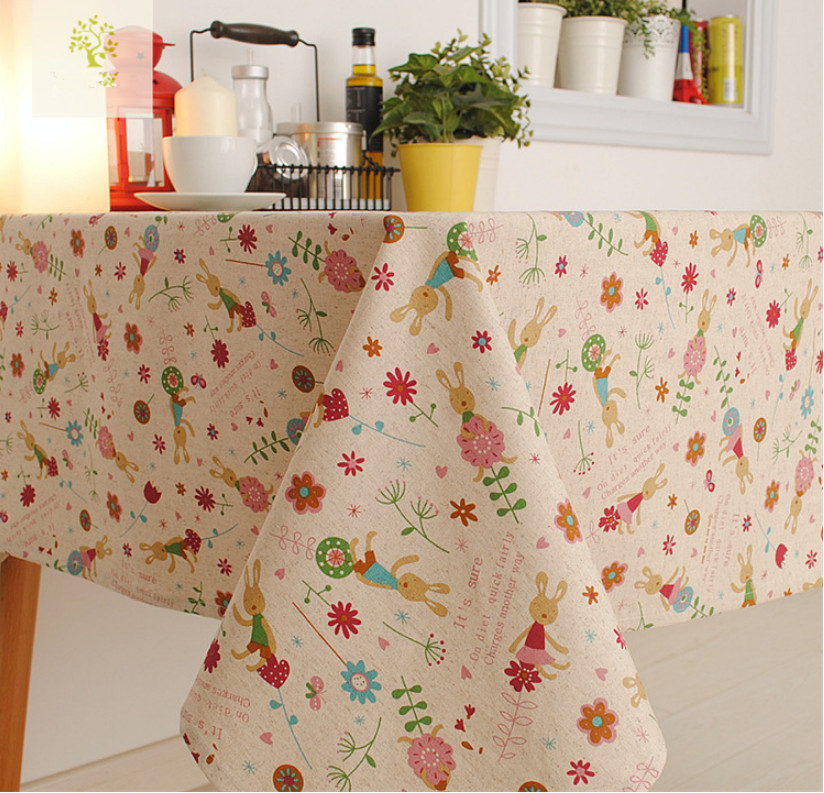 Vintage Crown Linen Table Cloth Coffee Side Table Towel Tablecloth Shabby Chic Home Decoration toalha De Mesa(China (Mainland))