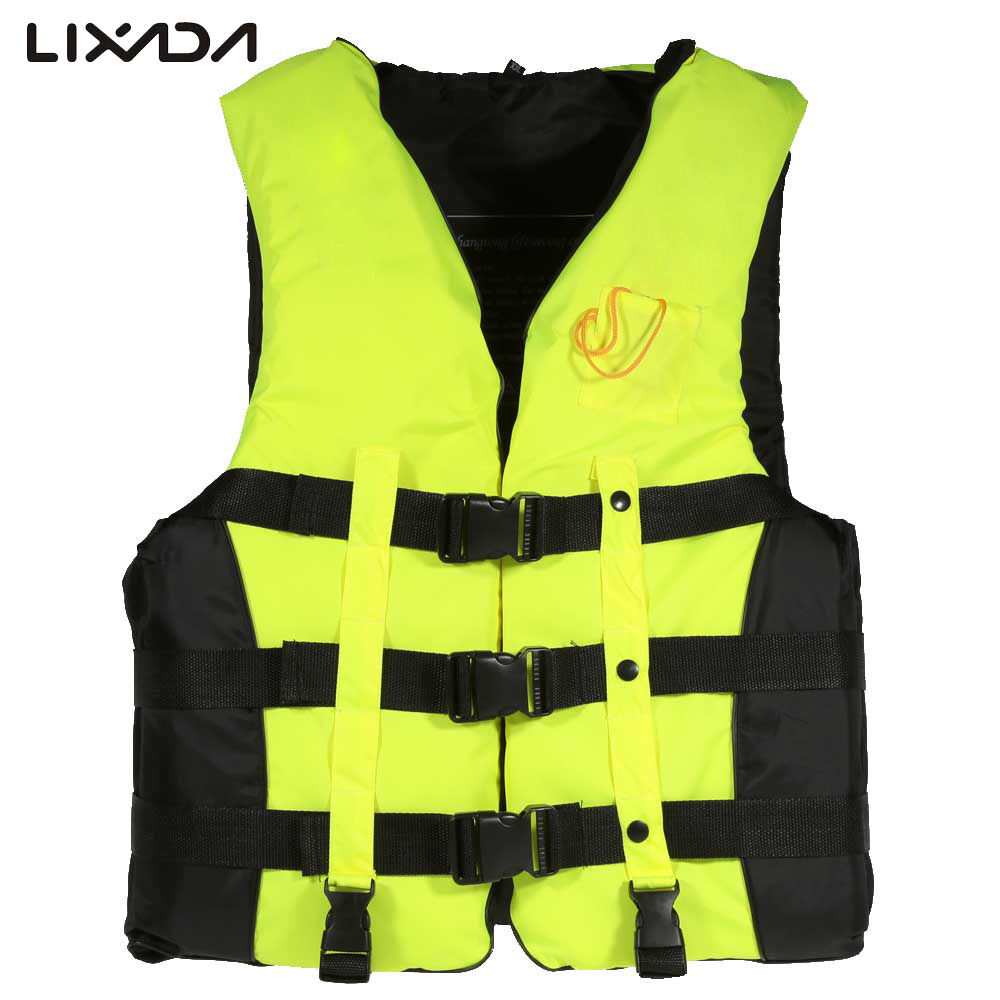 Water Sports Professional Swimwear Polyester Adult Life Jacket Vest Suit Survival Whistle for Swimming Fishing Rafting Drift(China (Mainland))