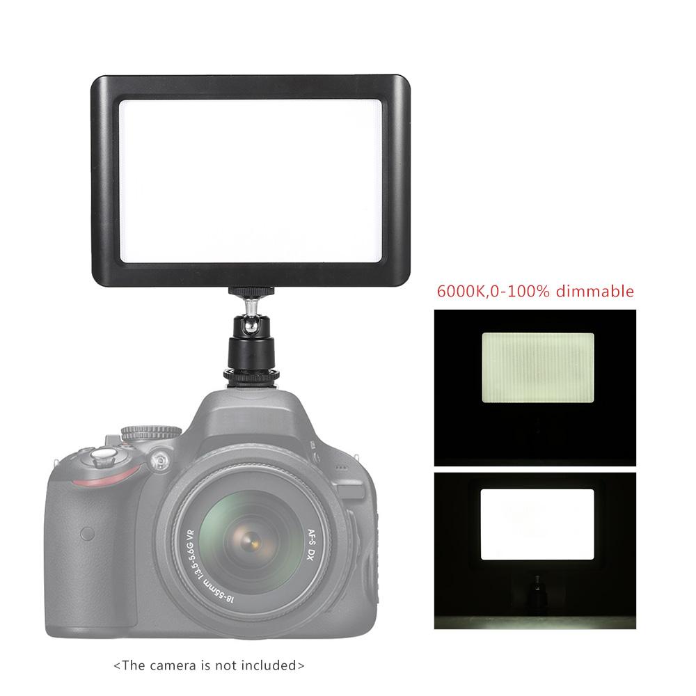Ultra Thin 6000K Studio Video Photo Pad Panel Lamp Dimmable Illumination LED Light Lighting for Canon Nikon DSLR Camera DV(China (Mainland))