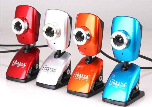 2014 Rushed Camera Digital [drop Shipping] Red / Blue Orange Silver S1 Computer Webcams Hd Popular Edition Webcam Pc 301000014