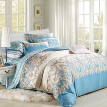 High quality Summer/ Spring 4PCS bedding sets(1 duvet cover 1 bedding sheet 2 pillowcase) 1000TC 100% Tencel fabric king queen(China (Mainland))