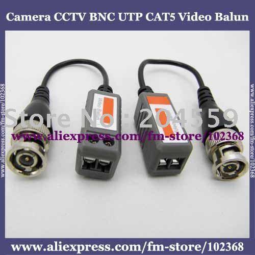 10pcs Camera CCTV BNC UTP CAT5 Video Balun Twistered Pair Transceiver Cable AT-C12-06