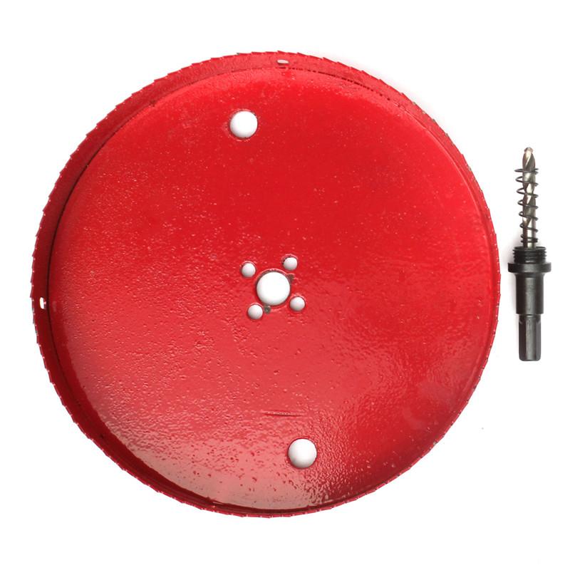 Hand Tools New Carbide Tip HSS Drill Bit Holesaw Set Twist Drill Bits Hole Saw Cutter Power Tools 110/120/130/140mm for Aluminum