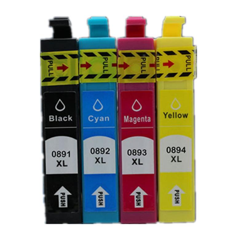 10 PCS T0711 / T0891 Ink cartridges for Epson Stylus DX7400 DX7450 DX8400 DX8450 DX9400F SX215 office B1100 B40W BX300F BX310FN(China (Mainland))