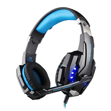 EACH G9000 3.5mm PC Gaming Headphone Headband Headset Casque audio with Mic LED Light for Laptop Mobile Phones/Xbox ONE/PS4