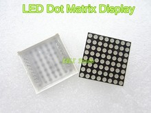 LED Dot Matrix Display 16pin 8x8 3mm Red Common Anode For Arduiino AVR 1588BS(China (Mainland))