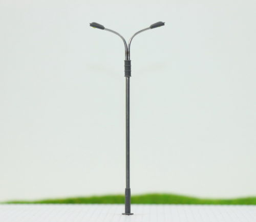 LQS13 10pcs Model Railway Train Lamp Post Street Lights HO OO TT Scale LEDs NEW(China (Mainland))