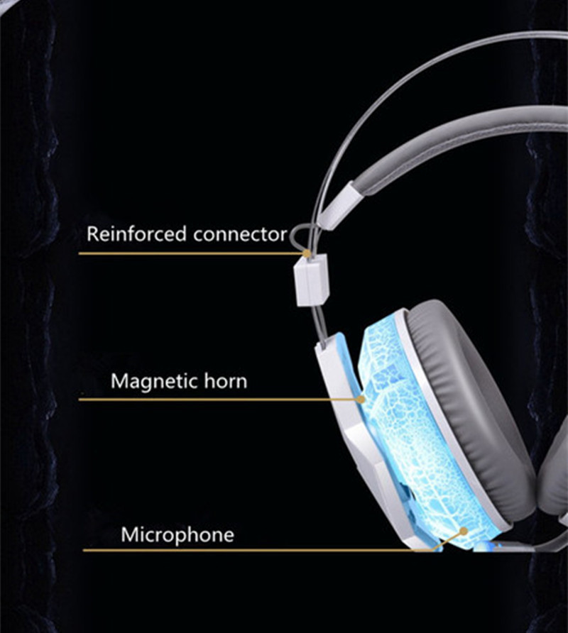 G95 Gaming Headset USB&3.5mm Gaming Headphones Blue LED light for PC phone Headphones High Quality