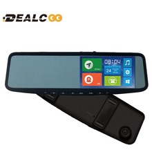 Free shipping 5inch Clip on universal 3G Android GPS Navigation GPS Tracker Bluetooth HD 1080P DVR Rearview Mirror Touch Monitor