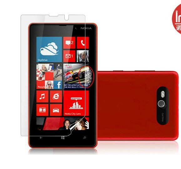 free shipping screen protector guard for nokia lumia 820 anti-scrathes high definition screen flim with retail package(China (Mainland))