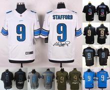 2016 elite Men Detroit Lions signature 9 Matthew Stafford(China (Mainland))