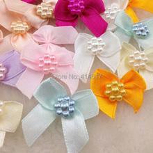 50pcs Mini Satin Ribbon Flowers Bows Gift Craft Wedding Decoration A262(China (Mainland))