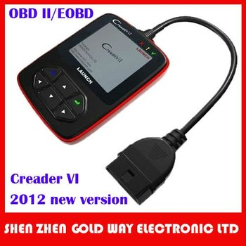2012 newest Launch OBD II code reader,color screen Creader VI,Launch Creader 6 multi language online update