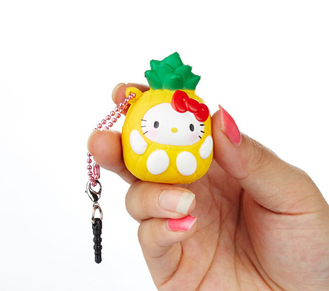 Rare Squishy Package : 2015 new original package rare squishy hello kitty Squishy cell phohe Strap Charm pineapple ...