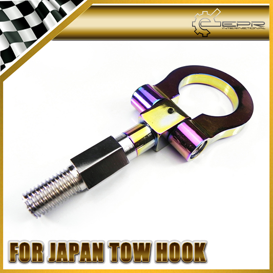 New NEO CHROME FOR UNIVERSAL RACING SCREW ALUMINUM CNC FOLDING TOW TOWING HOOK JDM Car Styling Car Accessories(China (Mainland))