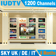 6 Months Arabic IPTV Europe Iptv SKY Italy UK Portugal Indian USA Spanish Netherland Sweden VOD with 3 AV cable free shipping