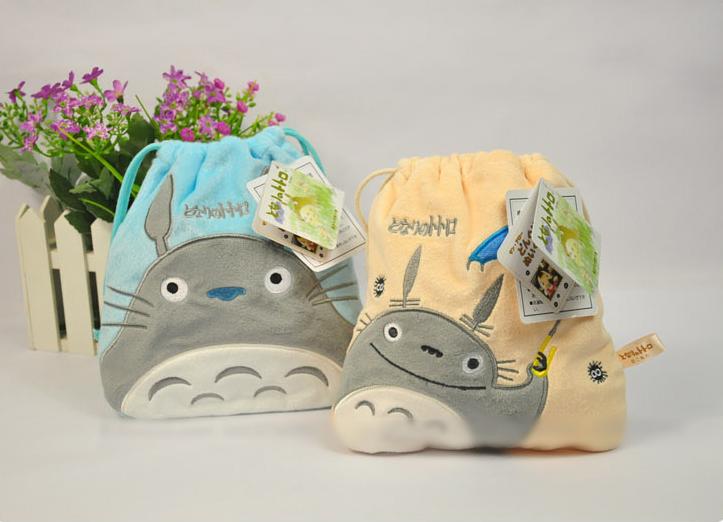 2016 Animal Cartoon Totoro Stuffed Toys Drawstring Beam Port Storage Bag Boys & Girls Pretty Plush Toy Party Gift(China (Mainland))