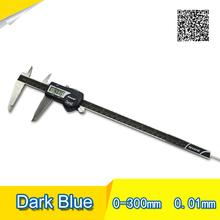 Бесплатная доставка Цифровой Штангенциркуль IP54 300 мм Темно-синий Высокое качество Цифровой дисплей штангенциркуль 0-300 цифровой штангенциркуль