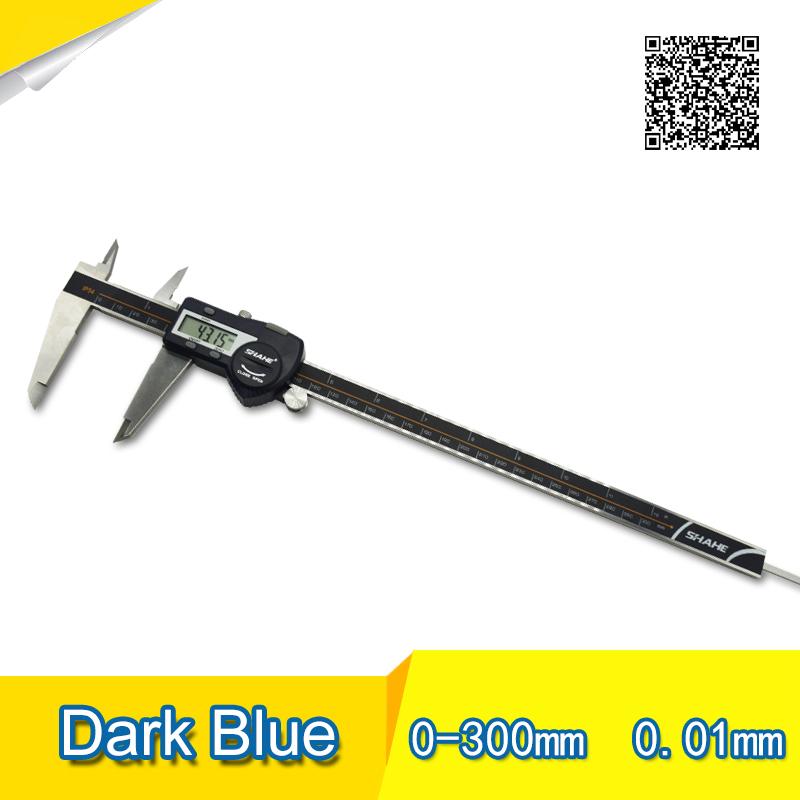 Free shipping Digital Caliper IP54 300mm Dark blue High quality Digital display calipers 0-300 digital vernier caliper(China (Mainland))