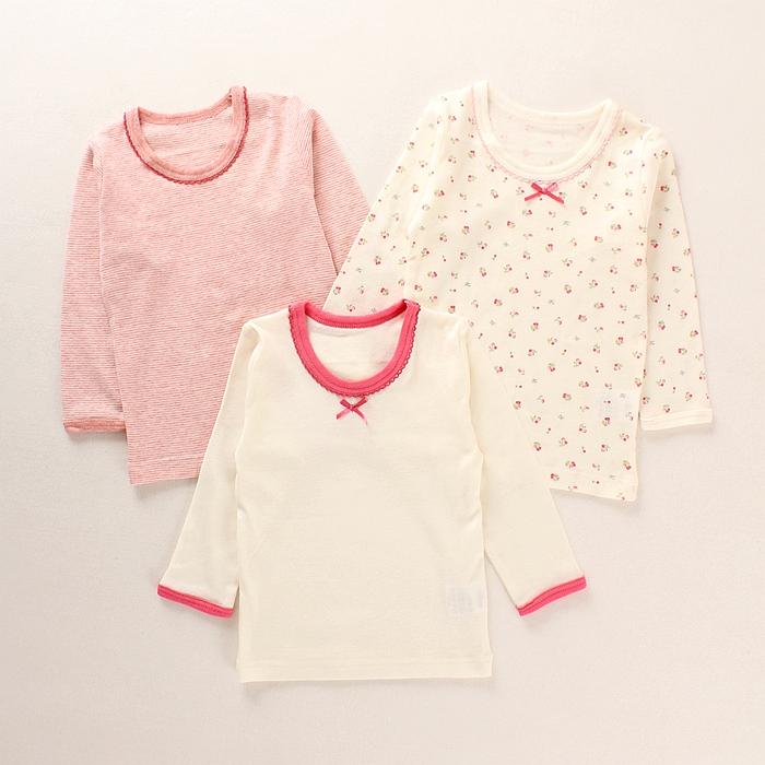 export to Japan thin cotton T-shirt long sleeve shirt girl children underwear coat Pajamas pink jacket backing autumn spring<br><br>Aliexpress