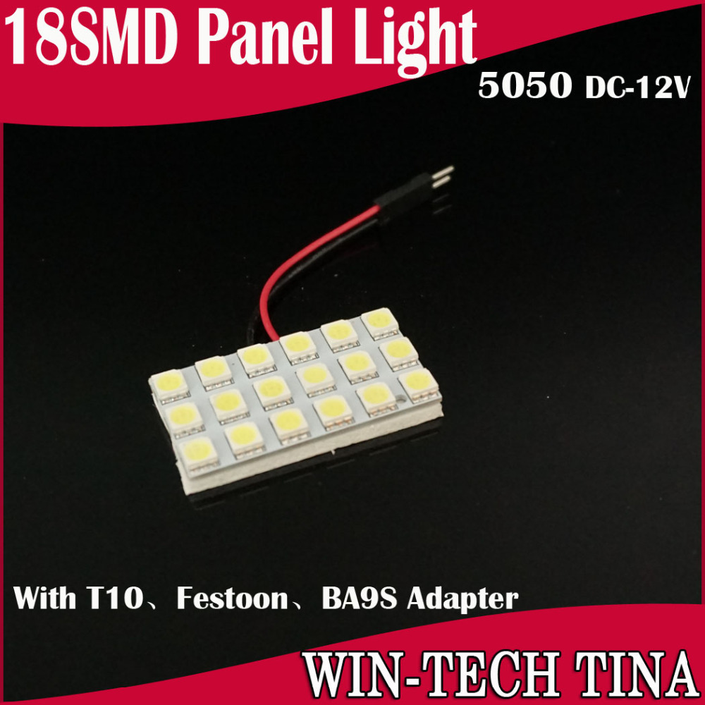 12v 5050 18SMD light panel T10 BA9S Festoon adapter Reading Lamp Dome light+ - Guang Zhou Tina Electronic store