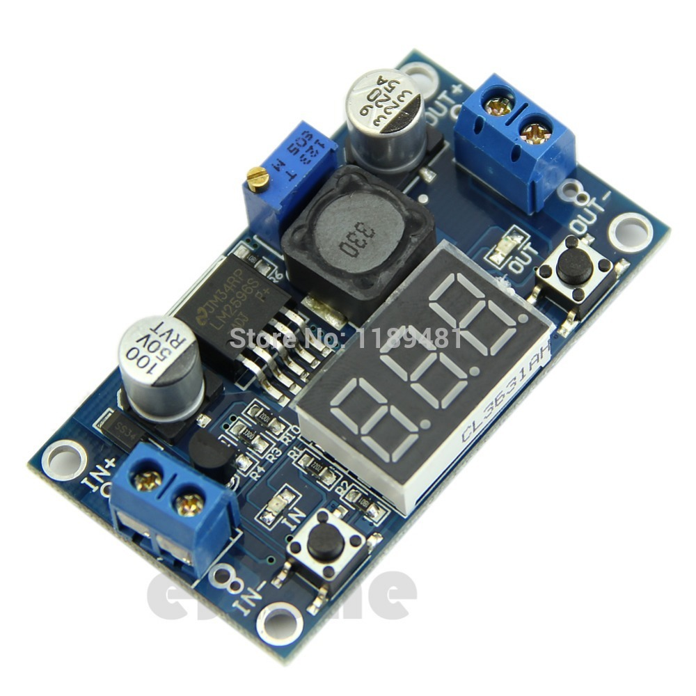 F85 Free Shipping DC 4.0~40 to 1.3-37V LED Voltmeter Buck Step-down Power Converter Module LM2596 (China (Mainland))