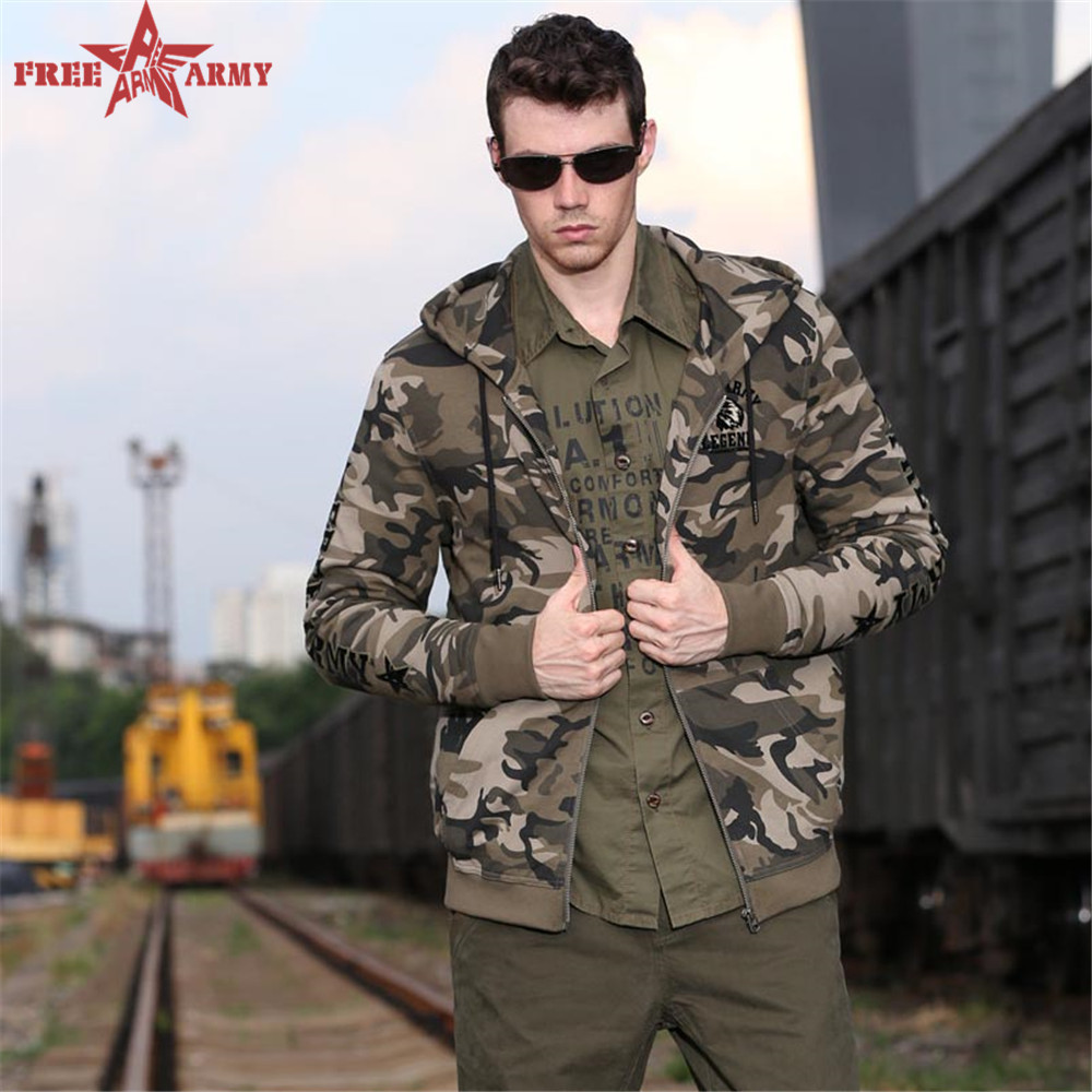 Free Army 2016 camouflage jackets men hip hop jacket streetwear lovers Camouflage casual jackets outdoor coats MS-6073B(China (Mainland))
