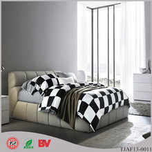 Classic Black and White 100% cotton printed bedding set queen king size angel look bedding set(China (Mainland))