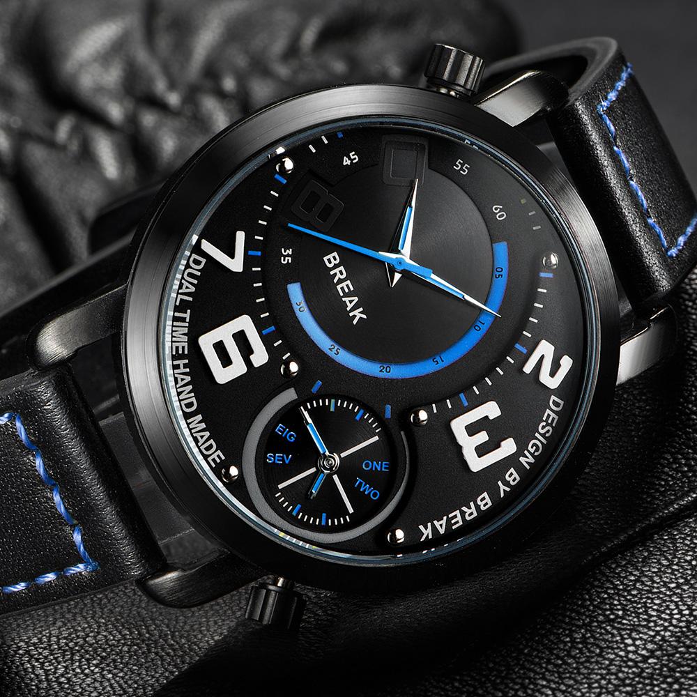 Double cadran montre promotion achetez des double cadran montre promotionnels - Horloge double cadran ...