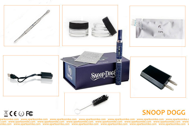 SDOG Fashion Snoop Dogg Dry Herb Electronic Cigarette Kits for Healthy Herbal Vaporizer Dry Herb Vaporizer