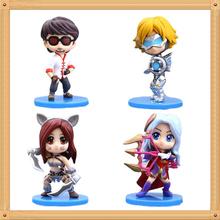 LOL Ezreal Action Figure Ashe Lee Sin Katarina Dolls PVC ACGN figure Garage Kit Toys Brinquedos Anime 8-10CM