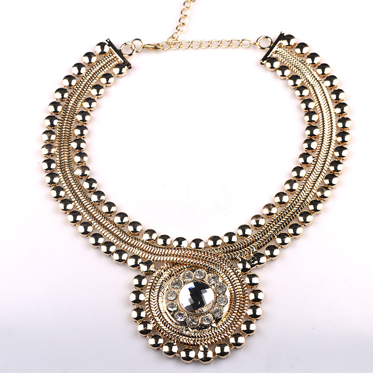 2015 New Trendy Collar Jewelry Alloy Rhinestone Vintage Gothic Punk Style Women Statement Necklaces DFX-820 - Top Shop store