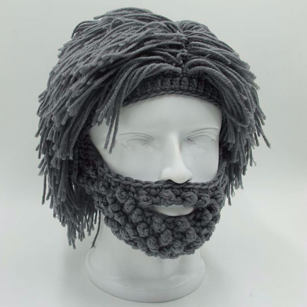 NaroFace Handmade Knied Men Winter Crochet Mustache Hat Beard Beanies Face Tassel Bicycle Mask Ski Warm Cap Funny Hat Gift