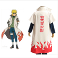 Hot Anime Naruto Cosplay Costumes Fourth Hokage Namikaze Minato Cape Outfit Cosplay Cloak Top Quality Free