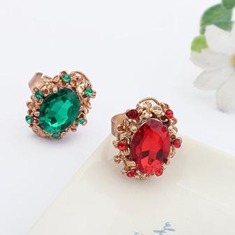 Fashion ring vintage fashion noble gem ring bling gem drop open ring 8570(China (Mainland))
