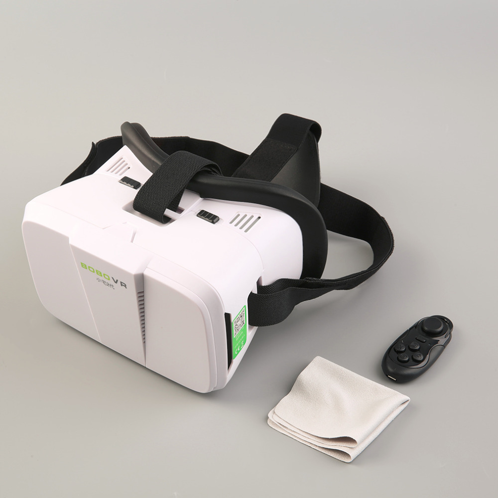 2016 New VR Box Virtual Reality 3D Glasses Movie Game for Smart Phones+Remote Co